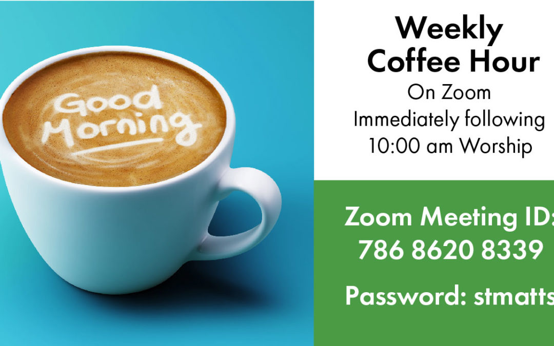 You are Invited to Coffee Hour on Zoom