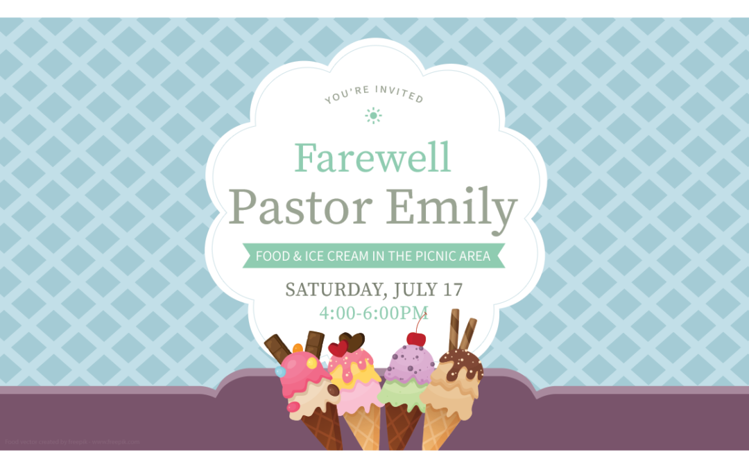 Pastor Emily's Farewell Party